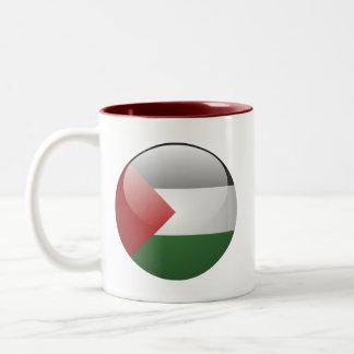 Bandera de Palestina Taza De Café De Dos Colores