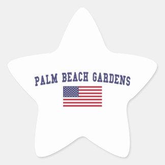 Bandera de Palm Beach Gardens los E.E.U.U. Pegatina En Forma De Estrella