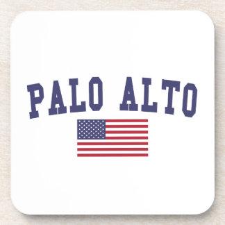 Bandera de Palo Alto los E.E.U.U. Posavasos De Bebidas