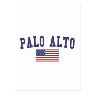Bandera de Palo Alto los E.E.U.U. Postales