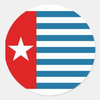 Bandera de Papua del oeste, Indonesia Pegatina Redonda