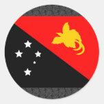 Bandera de Papúa Nueva Guinea Pegatina Redonda