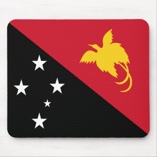 Bandera de Papúa Nueva Guinea Tapetes De Raton