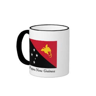 Bandera de Papúa Nueva Guinea Taza De Dos Colores