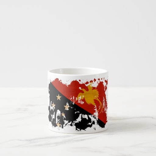 Bandera de Papúa Nueva Guinea Taza De Espresso