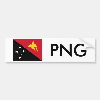 Bandera de Papúa Nueva Guinea y png Pegatina Para Auto