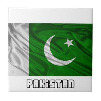 Bandera de Paquistán Teja Ceramica