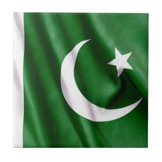 Bandera de Paquistán Azulejo Ceramica