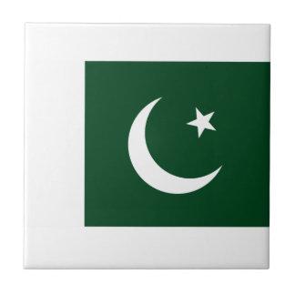 Bandera de Paquistán Azulejo Cuadrado Pequeño
