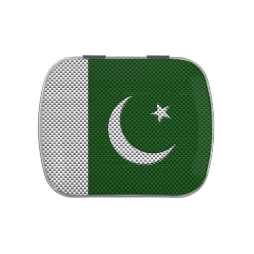 Bandera de Paquistán con efecto de la fibra de Latas De Dulces