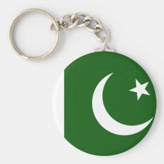 Bandera de Paquistán Llavero Redondo Tipo Pin