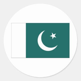 Bandera de Paquistán Pegatina Redonda