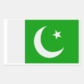 Bandera de Paquistán Pegatina Rectangular