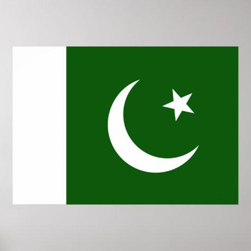 Bandera de Paquistán Póster