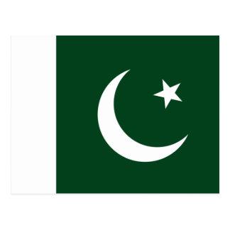 Bandera de Paquistán Tarjeta Postal