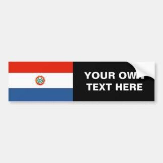 Bandera de Paraguay Pegatina Para Auto