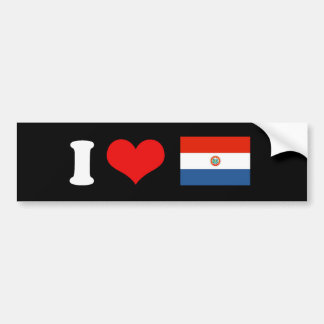 Bandera de Paraguay Pegatina De Parachoque