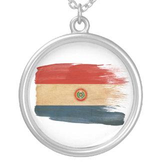 Bandera de Paraguay Colgante Redondo