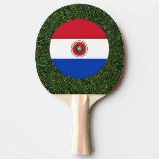 Bandera de Paraguay en hierba Pala De Ping Pong