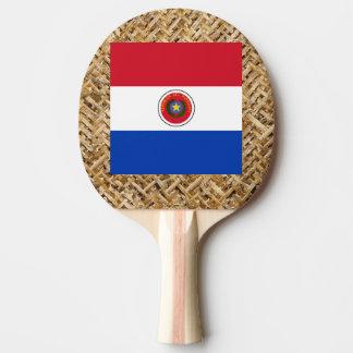 Bandera de Paraguay en la materia textil temática Pala De Tenis De Mesa