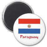 Bandera de Paraguay Iman Para Frigorífico