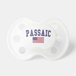 Bandera de Passaic los E.E.U.U. Chupetes De Bebé