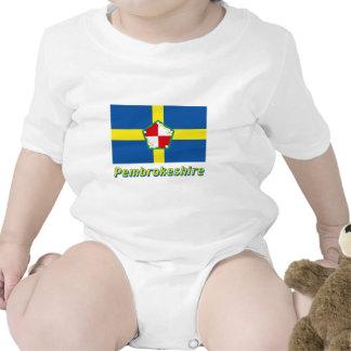 Bandera de Pembrokeshire con nombre Trajes De Bebé