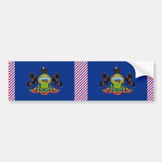 Bandera de Pennsylvania Etiqueta De Parachoque