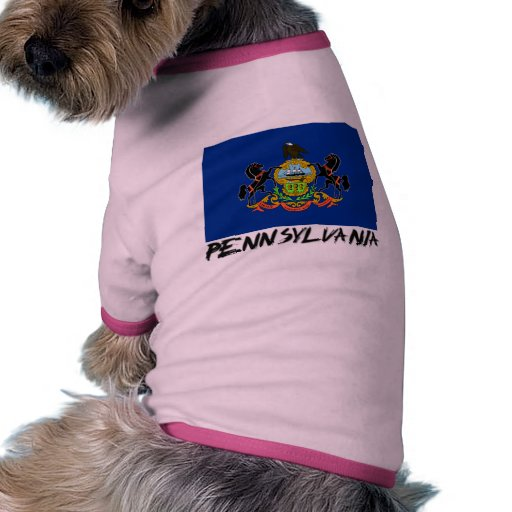 Bandera de Pennsylvania Camiseta Con Mangas Para Perro