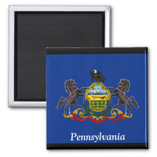 Bandera de Pennsylvania Imán Cuadrado
