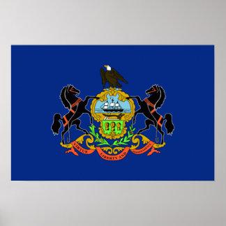 Bandera de Pennsylvania Posters
