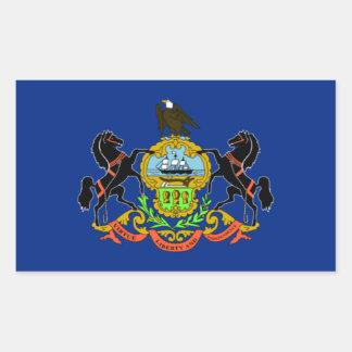 Bandera de Pennsylvania Pegatina Rectangular