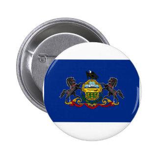 Bandera de Pennsylvania Pin Redondo 5 Cm