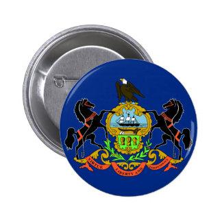 Bandera de Pennsylvania Pin Redondo De 2 Pulgadas