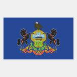 Bandera de Pennsylvania Rectangular Pegatinas