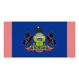 Bandera de Pennsylvania Tarjeta Fotografica Personalizada