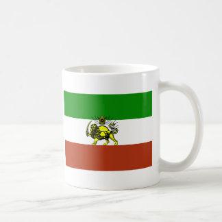 Bandera de Persia Taza Básica Blanca