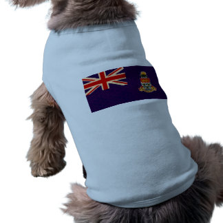 Bandera de persona de Caimán del modelo del vintag Camisetas De Perrito