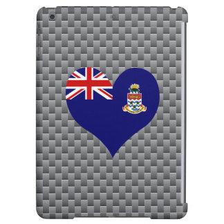 Bandera de persona de Caimán en fondo del metal