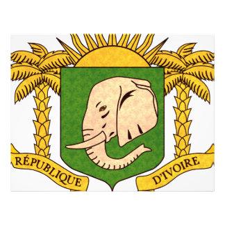 Bandera de persona de Costa de Marfil del modelo d Tarjetas Publicitarias