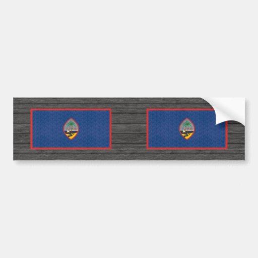 Bandera de persona de Guam del modelo del vintage Pegatina De Parachoque