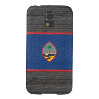 Bandera de persona de Guam del modelo del vintage Funda Para Galaxy S5