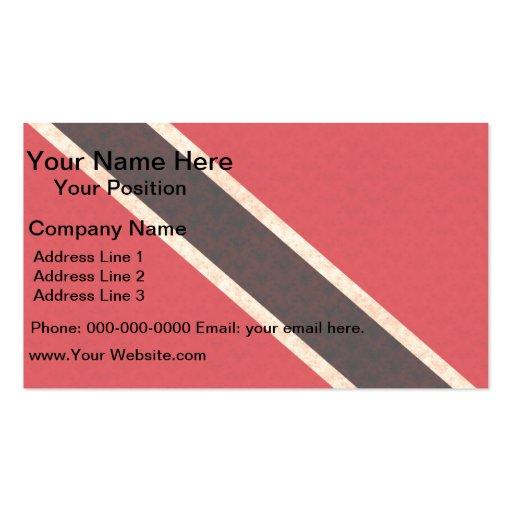 Bandera de persona de Trinidad y Tobago del modelo Tarjetas De Visita
