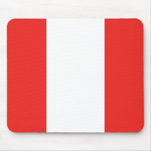 Bandera de Perú Alfombrillas De Ratón