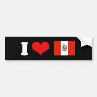 Bandera de Perú Pegatina Para Auto