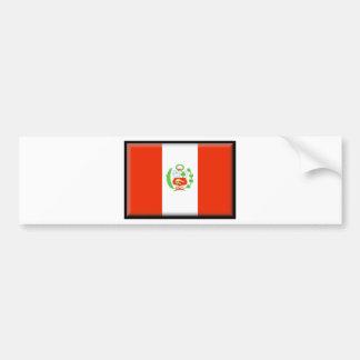 Bandera de Perú Pegatina Para Coche