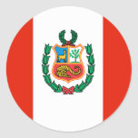 Bandera de Perú Etiqueta