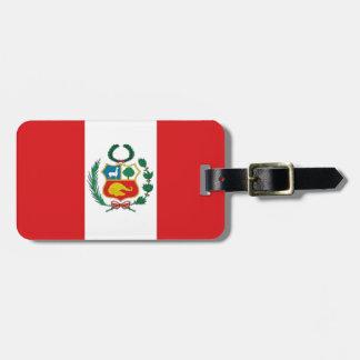 Bandera de Perú Etiqueta De Maleta