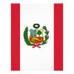 Bandera de Perú Flyer Personalizado