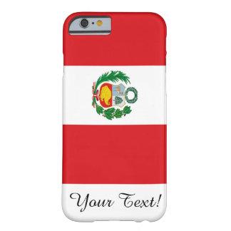 Bandera de Perú Funda De iPhone 6 Barely There